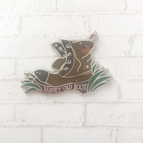Transportation Boot Enamel Pin