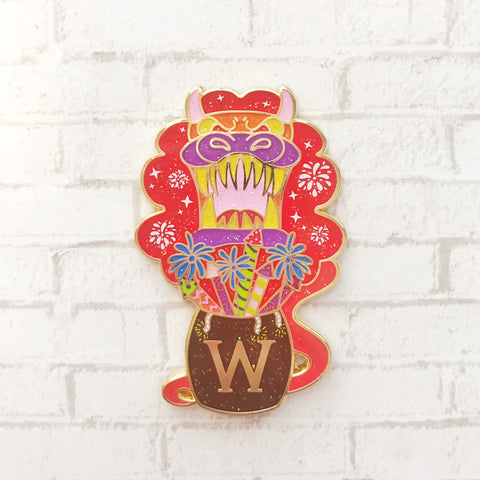 Firework Dragon Enamel Pin
