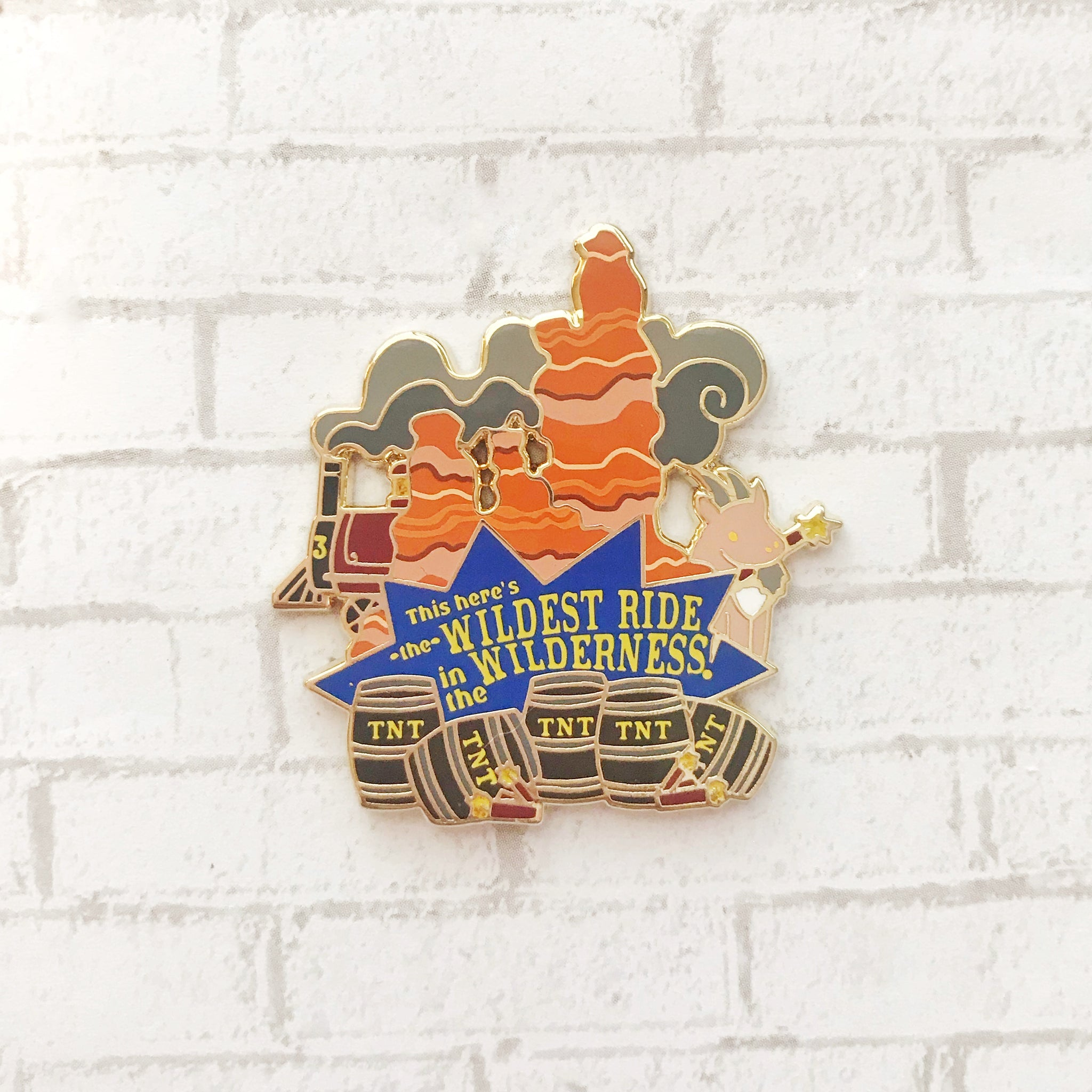 Wildest Ride Enamel Pin