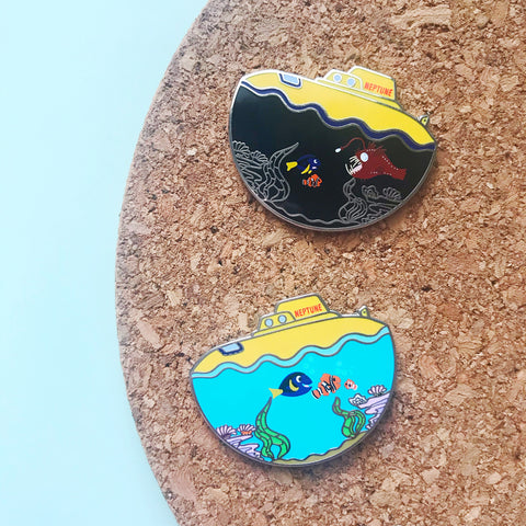 Submarine Ride Enamel Pin