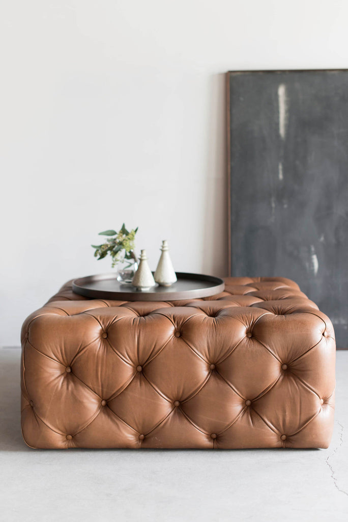 Cool Tufted Ottoman Dailytribune Chair Design For Home Dailytribuneorg