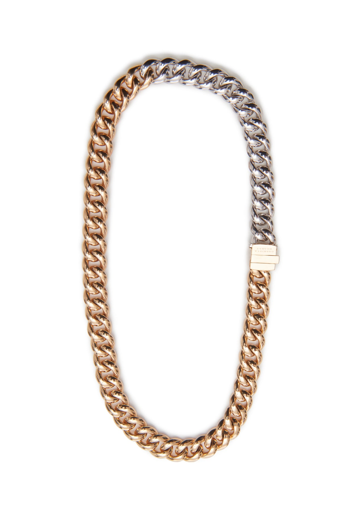 18k Solid White and Rose Gold Chain Necklace