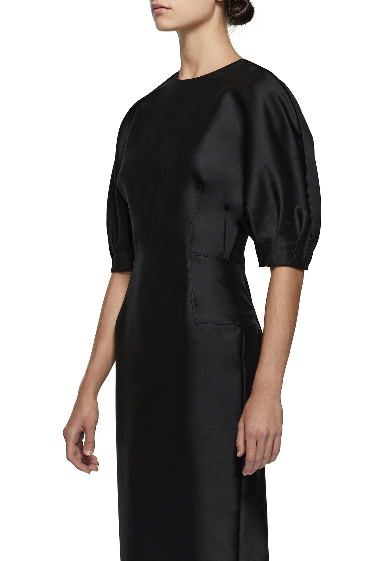 Coretta Curved Shoulder Dress