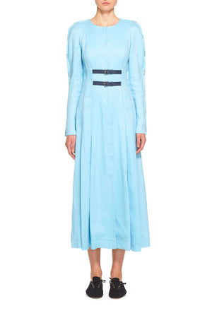 Arianna Raglan Sleeve Dress With Embroidery