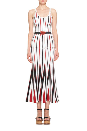 Aegina Striped Knit Skirt