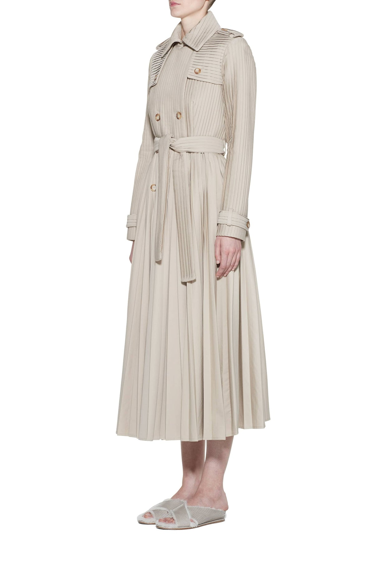 Stein Pleated Trench