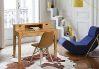 NordicStory Desk Solid Wood Scandinavian Oak Office Furniture Youth