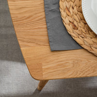 NordicStory Extending Nordic Oak Solid Wood Dining Table