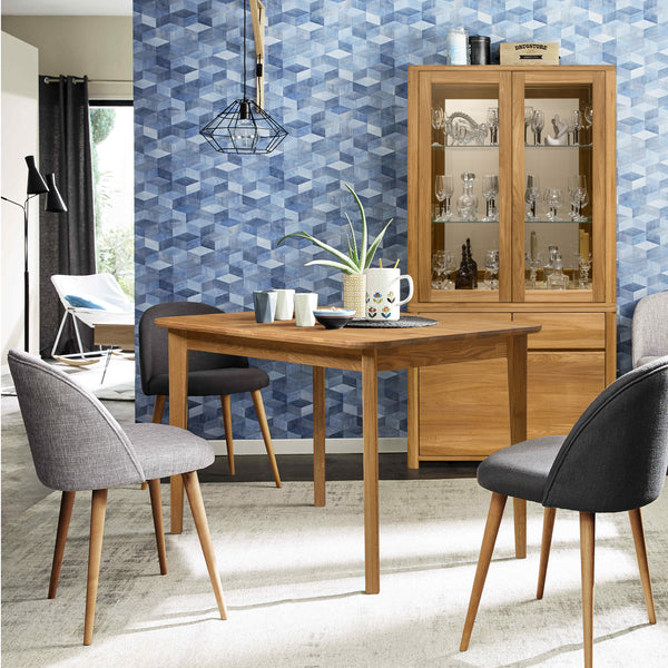Solid oak wood extendable dining table France