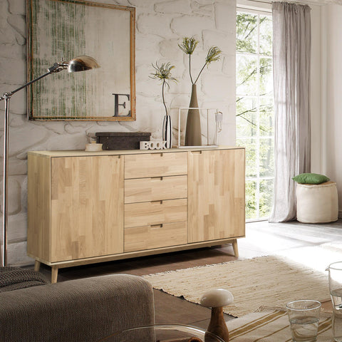 NordicStory Solid oak chest of drawers Scandinavian design