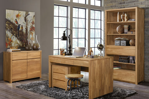 natural wood office furniture
