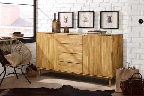 comfortable solid wood sideboard