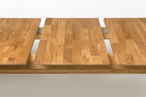 extendable oak wood dining table