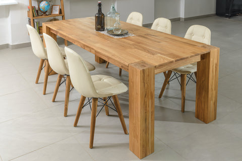 rustic style solid wood table