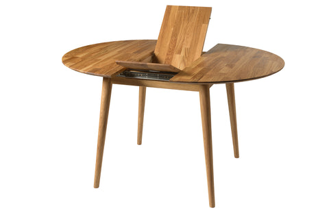 extendable table in ecological and natural wood