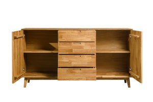 Nordic oak solid wood sideboard