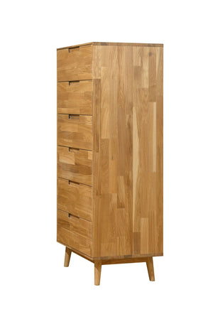 Chest of drawers Solid wood Nordic oak retro