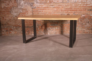LoftStory Industrial Dining Table with Square Legs