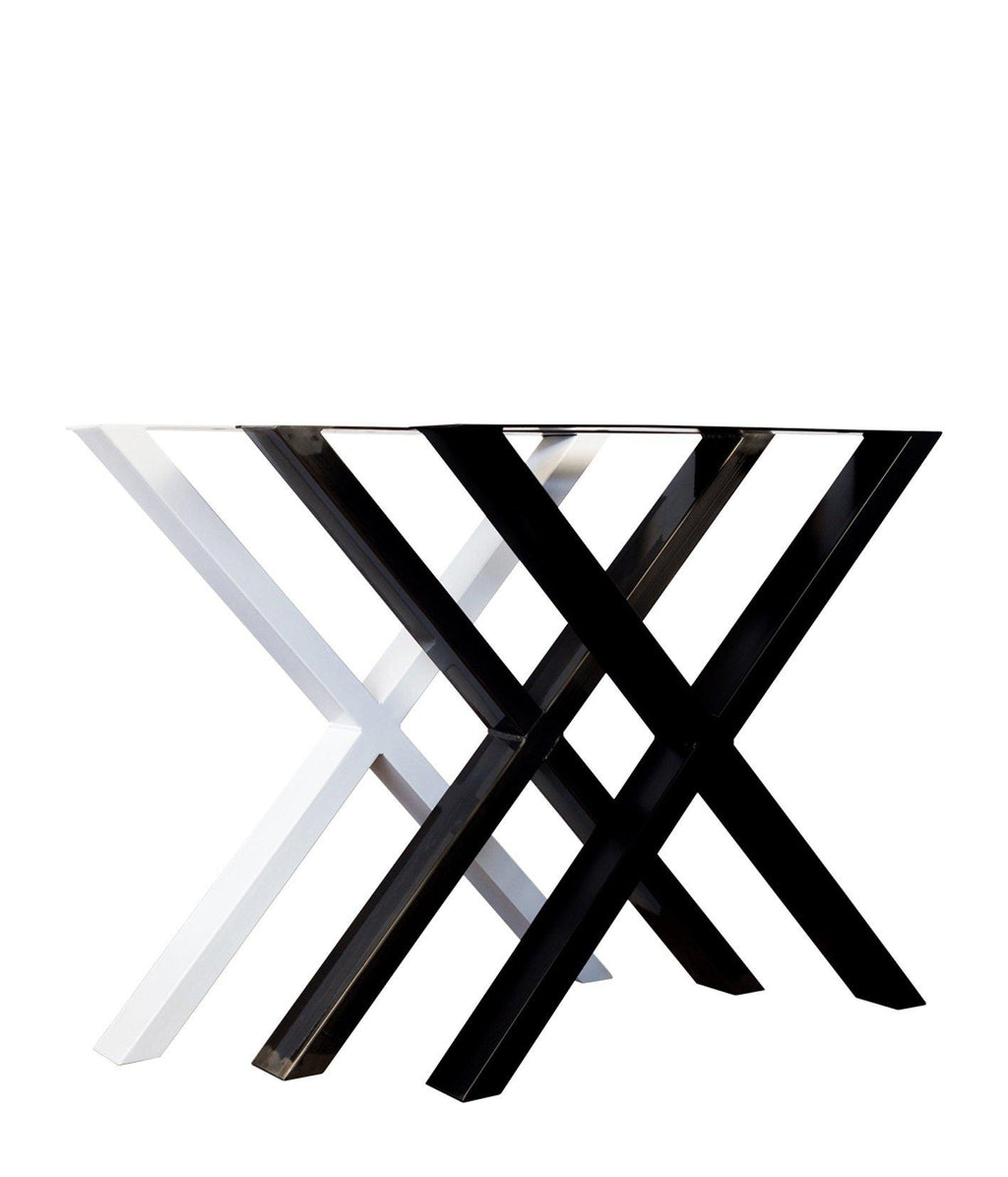 LoftStory X Shape Steel Legs Industrial Dining Table