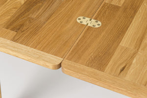 Nordic solid oak wood extendable table