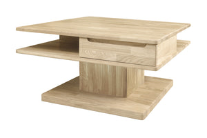 Scandinavian style solid oak wood coffee table