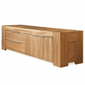 NordicStory TV table sideboard comfortable living room solid wood oak 100 natural bleached