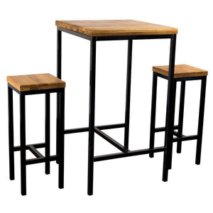 Solid oak table for 2 people