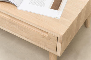 NordicStory coffee table solid wood nordic retro oak