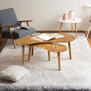 "NordicStory Stackable solid oak coffee table ""Escandi"" 120 x 60 x 43 cm. / 85 x 40 x 38 cm."