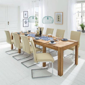 Nordic oak solid wood extendable dining table