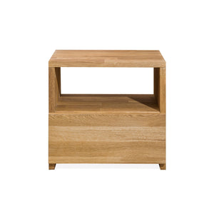 Nordic oak solid wood bedside table