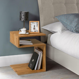 Nordic solid wood nightstand side table