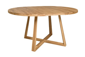 Extendable dining table solid wood oak