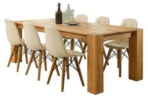 NordicStory Dining Table Solid Wood Oak Natural Rustic Scandinavian