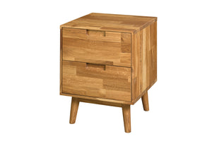 NordicStory bedside table bedside table solid wood oak 100 bleached natural