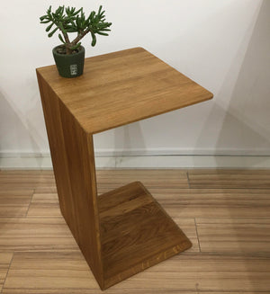 "NordicStory Solid oak side table ""Sono 2"" 38 x 35 x 60 cm."