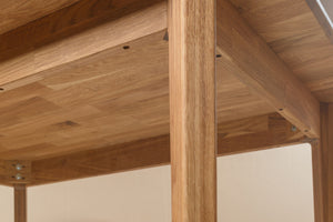 NordicStory Solid Oak Wood Dining Table