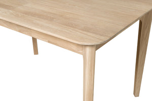 "NordicStory Extendable solid oak dining table ""France"" 120-160 x 80 x 75 cm."