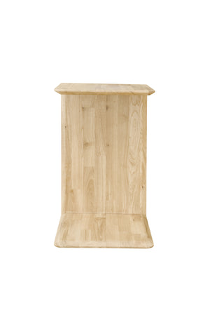 Scandinavian Solid Oak Wood Side Table