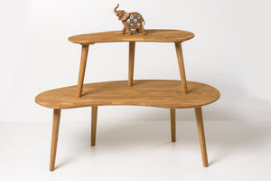 Nordic solid oak wood coffee table