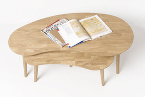NordicStory coffee table solid wood bleached natural oak living room office office