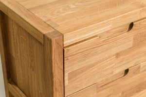 Scandinavian solid oak wood bedside table