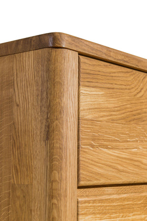 NordicStory Sideboard Chest of Drawers Solid Wood Nordic Oak