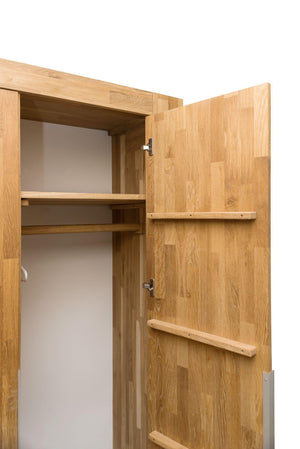 NordicStory Wardrobe Solid Wood Scandinavian Oak Bedroom