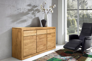 NordicStory Sideboard Comfortable Solid Wood Scandinavian Oak