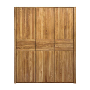 NordicStory Solid wood wardrobe for clothes oak bedroom furniture nordico