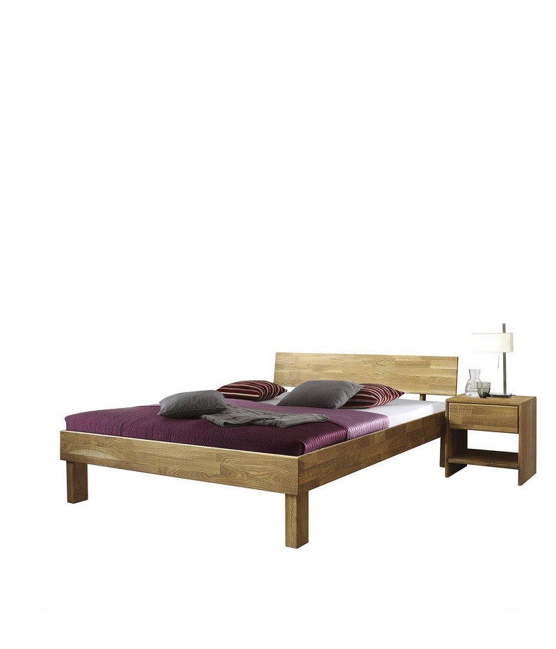 NordicStory Solid Oak Wood Bed
