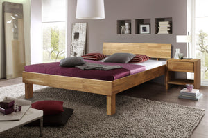 NordicStory Oak bed solid wood Scandinavian Nordic bedroom