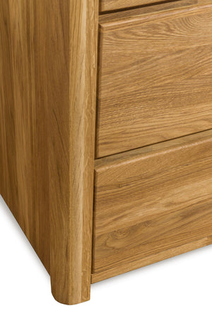 NordicStory Chest of Drawers Elsa 6 Drawers Solid Wood Scandinavian Oak