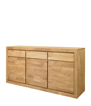 "NordicStory Sideboard Solid oak chest of drawers ""Utah"" 175 x 45 x 86 cm."